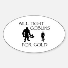 Warrior Man Quests for Gold Decal