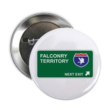 """Falconry Territory 2.25"""" Button (100 pack)"""