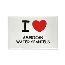 I love AMERICAN WATER SPANIELS Rectangle Magnet
