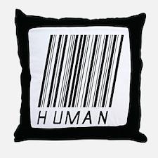 Human Barcode Throw Pillow