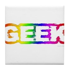 Other Gifts - Geek Rainbow Tile Coaster