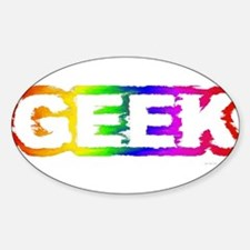 Stationery - Geek Rainbow Oval Decal