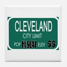 CLEVELAND -- T-shirts Tile Coaster