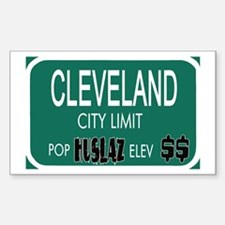 CLEVELAND -- T-shirts Rectangle Decal