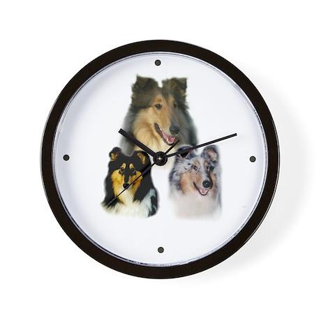 Collie Wall Clock (Sable, Tri, Blue Merle)