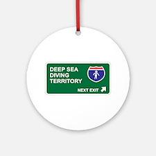 Deep Sea, Diving Territory Ornament (Round)