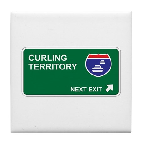 Curling Territory Tile Coaster