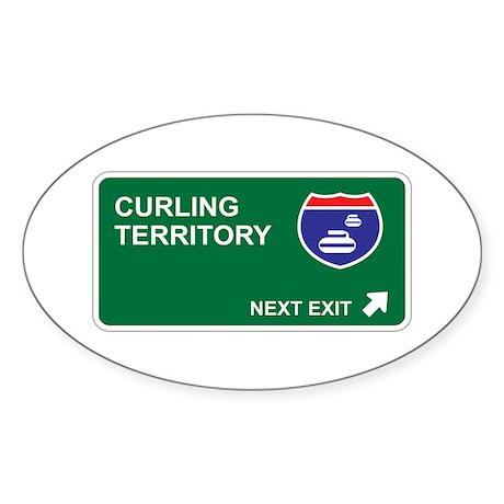 Curling Territory Oval Sticker