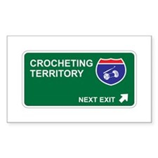 Crocheting Territory Rectangle Sticker 50 pk)