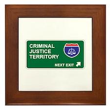 Criminal, Justice Territory Framed Tile