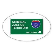 Criminal, Justice Territory Oval Decal