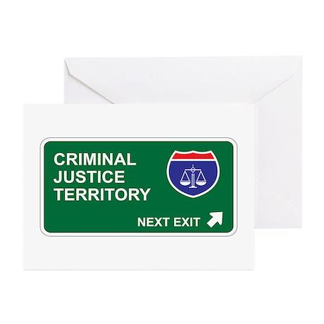 Criminal, Justice Territory Greeting Cards (Pk of