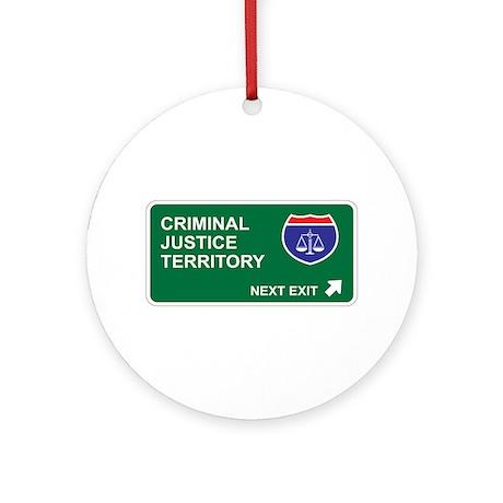 Criminal, Justice Territory Ornament (Round)