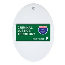 Criminal, Justice Territory Oval Ornament
