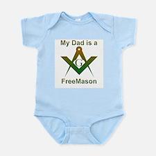 Masonic My Dad is a Freemason Infant Creeper