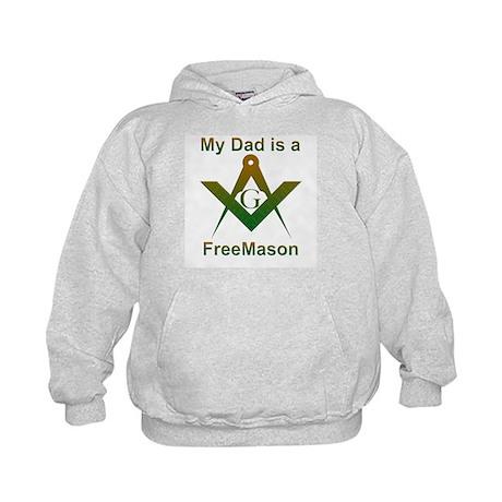 Masonic My Dad is a Freemason Kids Hoodie