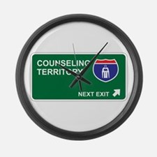 Counseling Territory Large Wall Clock