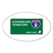 Counseling Territory Oval Decal