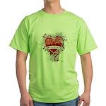 Heart Seychelles Green T-Shirt