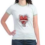 Heart Seychelles Jr. Ringer T-Shirt