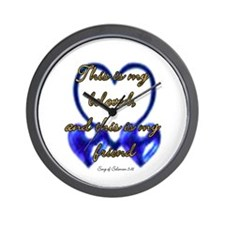 Blue Beloved Wall Clock