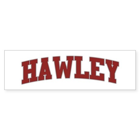 HAWLEY Design Bumper Sticker