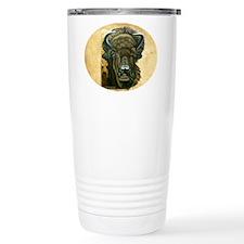 Buffalo Eating Travel Coffee Mug
