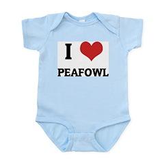 I Love Peafowls Infant Creeper