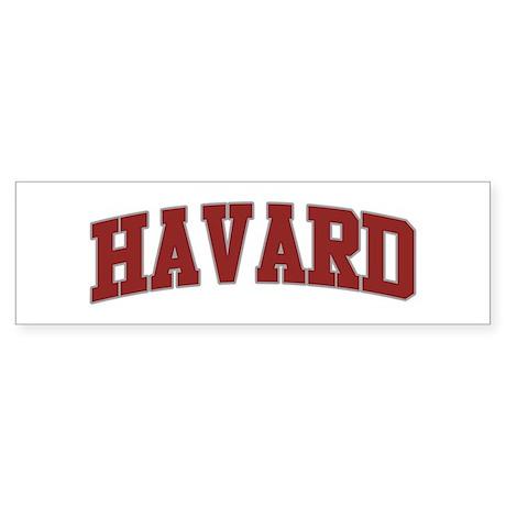 HAVARD Design Bumper Sticker