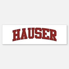 HAUSER Design Bumper Bumper Bumper Sticker