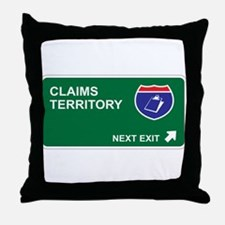 Claims Territory Throw Pillow