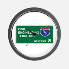 Civil, Engineering Territory Wall Clock