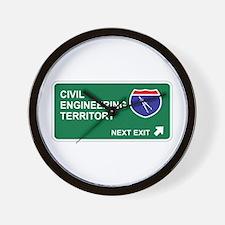 Civil, Engineering Territory Wall Clock