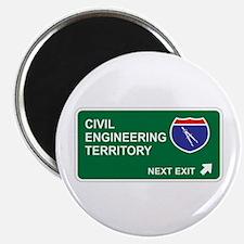 Civil, Engineering Territory Magnet