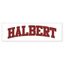 HALBERT Design Bumper Bumper Sticker