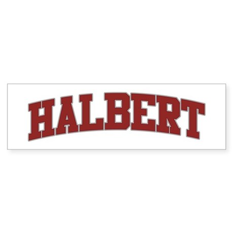 HALBERT Design Bumper Sticker