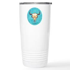 Buffalo Skull turquoise Travel Mug