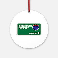Chiropractic Territory Ornament (Round)