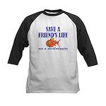 Save a life... dechlorinator. Kids Baseball Jersey