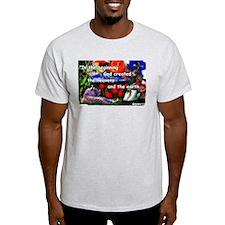Genesis 1:1 product line Ash Grey T-Shirt