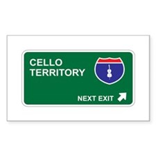 Cello Territory Rectangle Decal