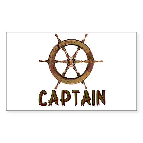 Captain Rectangle Sticker 50 pk)
