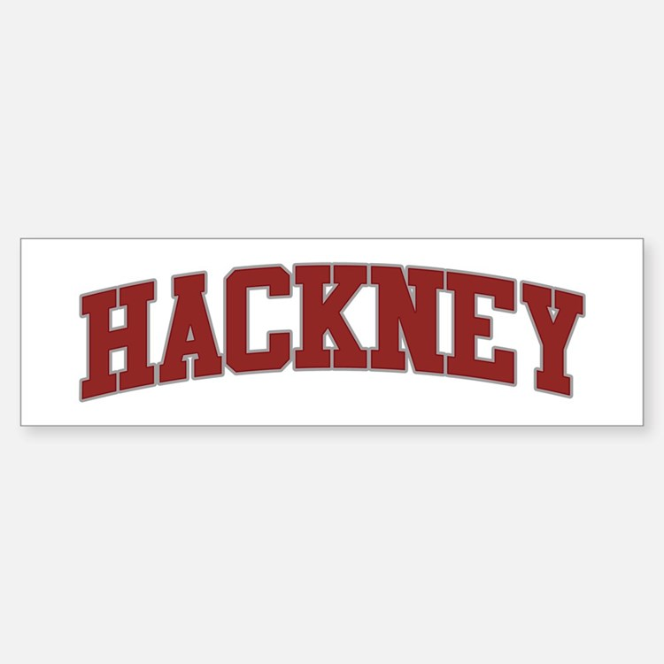 HACKNEY Design Bumper Bumper Bumper Sticker