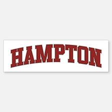 HAMPTON Design Bumper Bumper Bumper Sticker