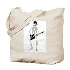 Skeleton Guitar Player Tote Bag