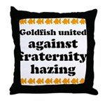 Goldfish against hazing. Throw Pillow