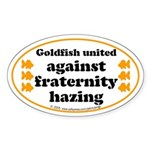 Goldfish against hazing. Oval Sticker