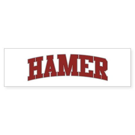 HAMER Design Bumper Sticker