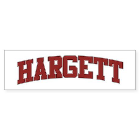 HARGETT Design Bumper Sticker