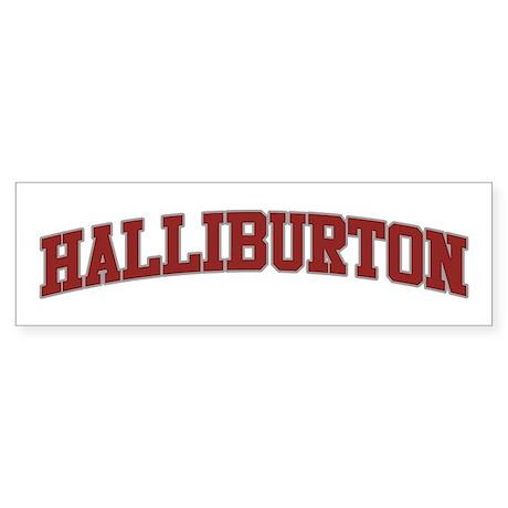 HALLIBURTON Design Bumper Sticker
